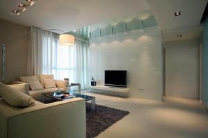 106平米现代简约风格精致三室两厅室内装修效果图案例