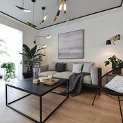 现代风格时尚开放式客厅阳台装修效果图赏析
