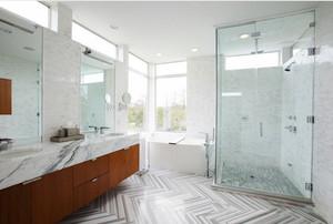 现代风格大户型精致卫生间淋浴房设计装修效果图