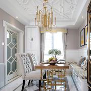 新古典主义风格精美餐厅吊顶设计装修效果图