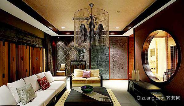 170平米中式风格古朴自然别墅装修效果图
