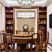 中式风格古典精致实木餐厅设计装修效果图赏析