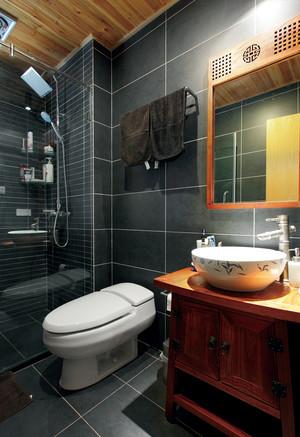 118平米中式风格典雅三室两厅室内装修实例