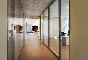现代风格办公室玻璃隔断设计装修效果图