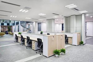 现代简约风格大型办公室装修效果图鉴赏