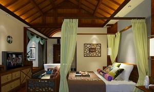 中式风格古典雅致酒店客房设计装修效果图