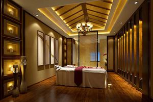 中式风格美容院包厢装修效果图赏析