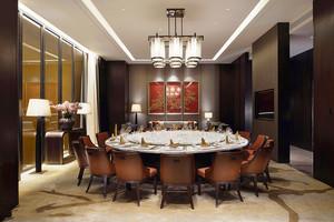 中式风格古典精致酒店包厢设计装修效果图