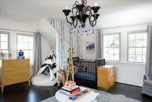 北欧风格简约时尚儿童房装修效果图欣赏