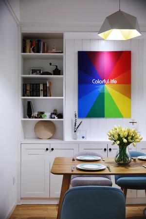 94平米北欧风格简约时尚三室两厅室内装修效果图