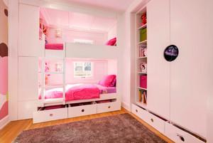 欧式风格精美双层床儿童房装修效果图赏析