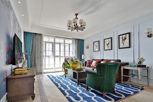 124平米混搭风格精美三室两厅室内装修效果图案例