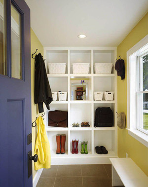 简约风格时尚实用玄关鞋柜设计装修效果图