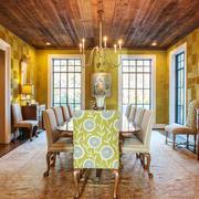 美式风格别墅室内复古餐厅设计装修效果图