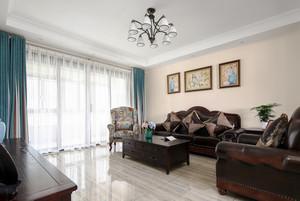 简约美式风格精美三室两厅一卫装修效果图案例