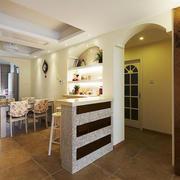 田园风格自然舒适室内吧台设计装修效果图赏析