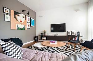 现代风格时尚三室两厅一卫装修效果图赏析