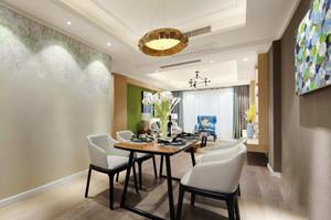 99平米现代风格时尚精装三室两厅室内装修实景图案例