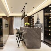 现代风格大户型精致酒柜吧台设计装修效果图