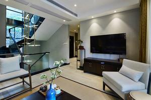 196平米新中式风格精致复式楼室内装修效果图