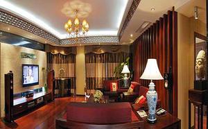 117平米中式风格精致两室两厅室内装修效果图