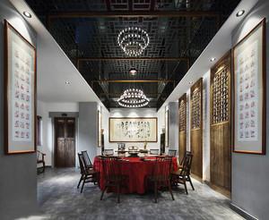 新中式风格五星级酒店包厢装修效果图赏析
