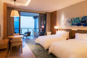 现代风格精致酒店标准间装修效果图鉴赏