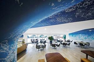 100平米现代风格时尚创意咖啡厅设计装修效果图