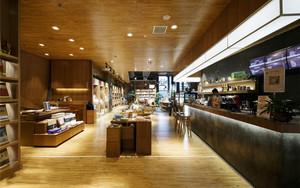 140平米现代简约风格精致书店装修效果图