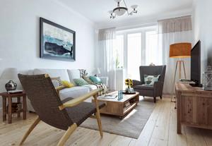67平米北欧风格自然风一居室装修效果图案例