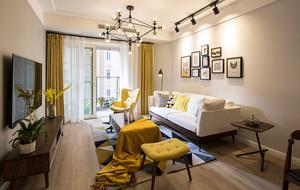 73平米北欧风格时尚一居室室内装修效果图