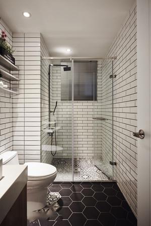 6平米北欧风格简约卫生间淋浴房装修效果图