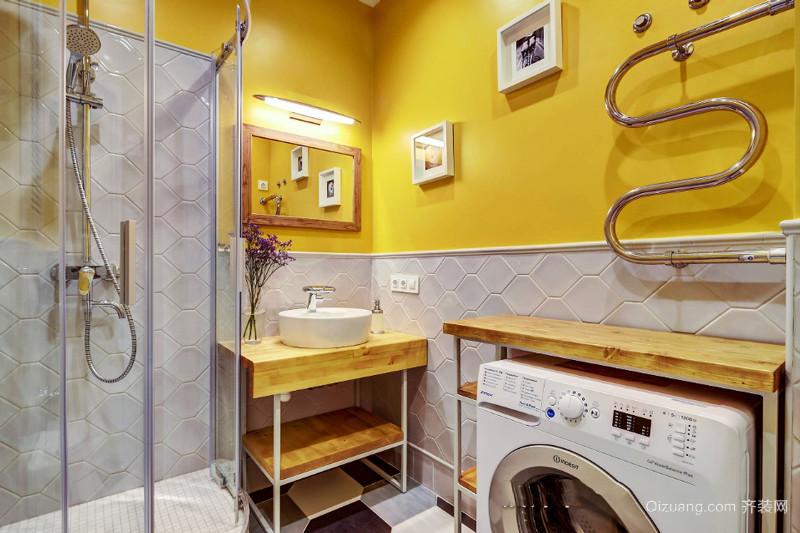 8平米混搭风格精美卫生间淋浴房装修效果图