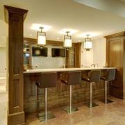 美式风格大户型精致室内吧台装修效果图赏析