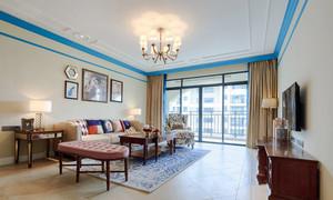 现代简约美式风格大户型精美客厅装修效果图