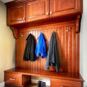 美式风格精致实用玄关鞋柜设计装修效果图