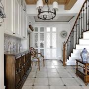美式风格别墅精致玄关设计装修效果图赏析