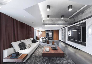 133平米现代风格大户型室内装修效果图案例