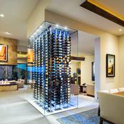 现代风格时尚玻璃酒柜设计装修效果图赏析