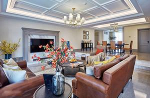 新古典主义风格大户型精致客厅设计装修效果图赏析
