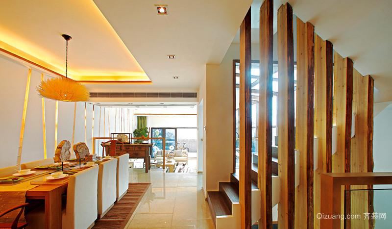 228平米中式风格淳朴别墅室内装修效果图
