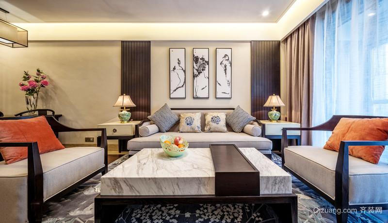 中式风格古典气质客厅设计装修效果图赏析