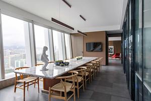 中式风格简约会议室装修效果图鉴赏