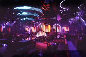 160平米现代风格精致音乐酒吧装修效果图