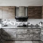 后现代风格黑色系时尚厨房装修效果图赏析
