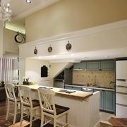 简欧风格精美开放式厨房吧台装修效果图赏析