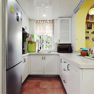 欧式风格美观开放式厨房装修效果图