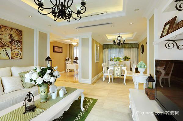 欧式风格温馨甜美大户型室内装修效果图鉴赏
