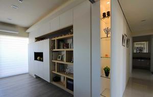 121平米现代简约风格三室两厅室内装修效果图