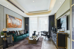 108平米新古典主义风格两室两厅室内装修效果图